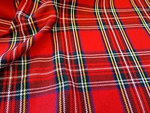 Such Textiles Royal Stewart Tissu à motif écossais