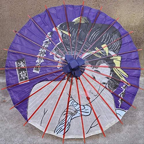 yingtengklk Aceite de Papel Serie Ukiyoe Paraguas a Prueba de Viento Lluvia Lluvia Cocina Japonesa Ornamento Decorativo 64 cm diámetro Ciruela