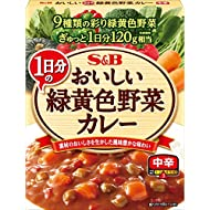S&B Delicious Curry Green Yellow Vegetables for one Day Medium Spicy 180 g × 6 Japan