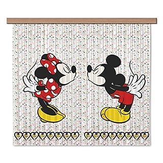 AG Design Disney Mickey Mouse Kinderzimmer Gardine/Vorhang, Stoff, Mehrfarbig, 0, 1 x 180 x 160 cm, 2