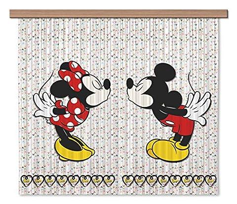 AG Design FCSXL 4371 Disney Mickey Mouse, Gardine/Vorhang, 180x160 cm - 2 Teile: 90x160 cm, Stoff, Multicolor, 0,1 x 180 x 160 cm