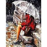 XIAOBAOZISZYH Digital Painting'S Digital Suite Ist EIN Einzigartiges Bild Für DIY-Poster-Wand Rote Dame Und Art Deco-Leinwand.40 × 50 cm