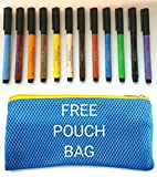 #4: Faber-Castell Pitt Artist Brush Pens Pack OF 12 PCS AND (12 COLOURS) + POUCH BAG FREE