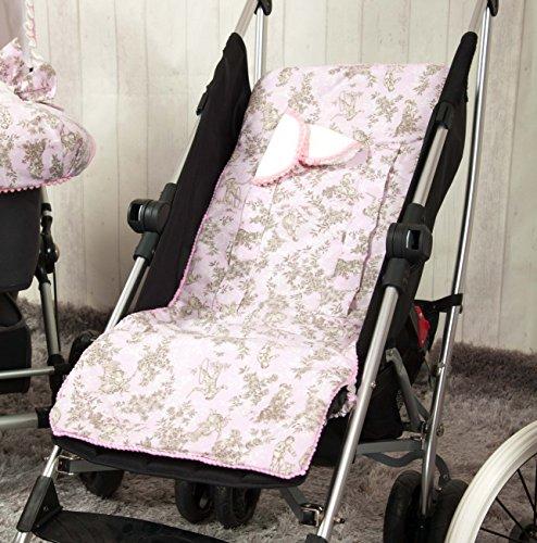 Babyline Toile - Colchoneta ligera para silla de paseo, color rosa