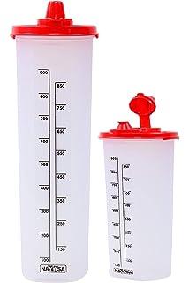Nayasa Plastic Oil Dispenser 1000ml+600ml Set of 2 Multicolor