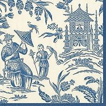 Caspari - Servilletas de Papel (20 Unidades), diseño Estampado, Color Azul