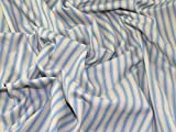 Inlett Streifen gewebt Baumwolle Möbelstoff Sky Blau–Meterware