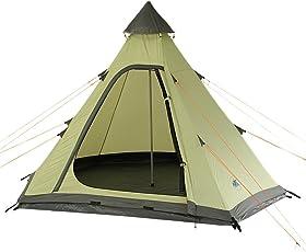 10T Camping-Zelt Melton 3 Tipi mit Schlafbereich für 3 Personen Outdoor Idianerzelt mit Dauerbelüftung, Trekkingzelt mit eingenähter Bodenwanne, Wasserdichtes Pyramidenzelt mit 5000mm Wassersäule