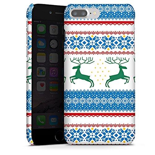 Apple iPhone X Silikon Hülle Case Schutzhülle Norwegen Muster Rentiere Premium Case glänzend