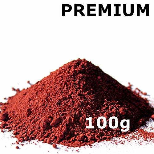 Pigmentpulver, Eisenoxid, Oxidfarbe - 100g (29,90€/kg) im Beutel Farbpigmente, Trockenfarbe für Beton + Wand - Farbe: rot/ziegel