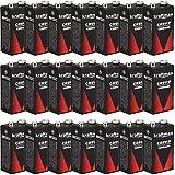 kraftmax 20x 9V Block Lithium Hochleistungs- Batterien für Rauchmelder/Feuermelder - 10 Jahre Batterie Lebensdauer