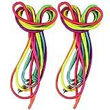COM-FOUR-2er-Set-Hpfgummi-Gummitwist-3-Meter-Regenbogenfarben