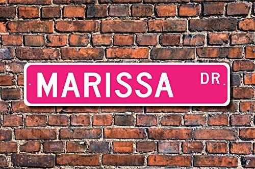 Aersing Marissa Lover Marissa Geburtstag Geschenk Kind Enkelkind Geschenk Home Dekoration Schild Metall alunimum Wandschild 45x 10cm