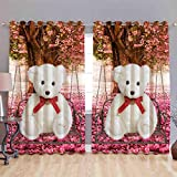 Digital Print Curtains For Door Eyelet Curtains 1 Pc Only, Size - 7x4 Feet By Fresh From Loom
