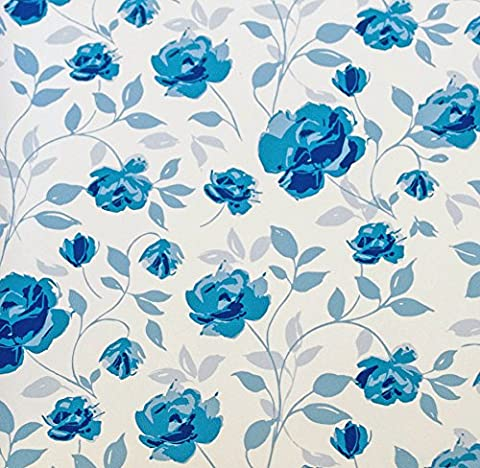 Wedgewood White on blue flowers floral suttons Printed Patterned Tissue
