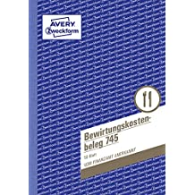 AVERY Zweckform 745 Bewirtungskostenbeleg (A5, mikroperforiert, 50 Blatt) Blau (weiß Blätter)