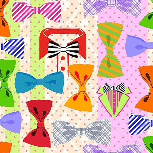 n, 3-lagig 1/4-Falz 33 cm x 33 cm Bow Tie Parade, Sie erhalten 10 Packungen, Packungsinhalt: 20 Stück ()