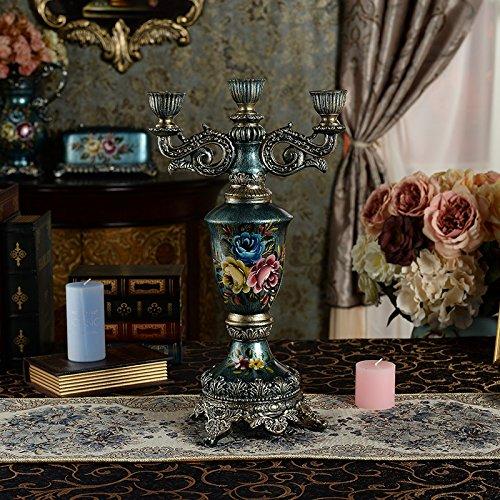 Fkduih Die high-end Luxus romantische retro Kreative Dekorationen Leuchter europäischen Wohnzimmer deko Kunsthandwerk Heimtextilien (Halloween Candleabra)
