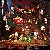 Alicemall Pegatinas de Navidad Decoración Navideño Papa Noel Blanco y Rojo Pegatinas de Pared Calcomanías de Ventanas Escaparate Tienda Oficina 60*90cm