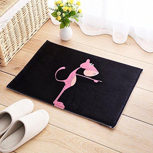 Preisvergleich Produktbild Kinder's Cartoon cat bed Teppich matten Bad Küche rechteckig Tür Fußmatte Fußmatte Wasser, 40 cm*60 cm, Pink Panther