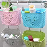 ASkyl Mini Desk Plastic Basket Bathroom Hanging Rack Kitchen Supplies Organizer Decoration Portable Useful Stationery Storage SET OF 2