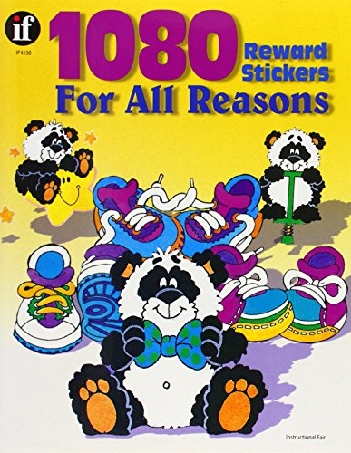 1080 Reward Stickers for All Reasons, Grades 1 - 6