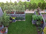 Gabiona  eckige Gabionenkörbe  befüllbare Steinkörbe  witterungsbeständige Gitter für Hochbeet  Gabionen Hochbeet  made in Germany  130 x 80 x 80 cm
