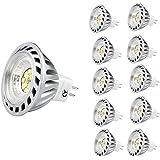 Xpeoo® Pack de 10 unités 6W LED MR16 GU5.3 lumière du jour Ampoule Equivalente à une Halogène de 50 W Spot Light Design Avant