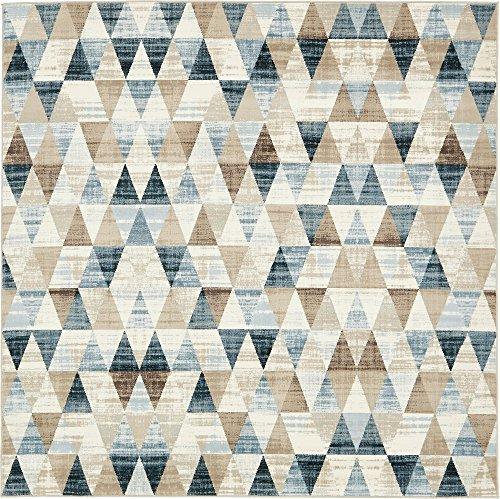 Moderna astratta geometrica 6-Feet da 1,8m (6'x 6'), quadrato Mirage Beige TAPPETO MODERNO