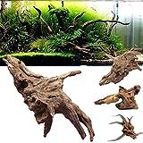 Lazzykit Aquarium Deko Natürlichen Stamm Wurzel Holz Fisch Tank Dekoration 10-35cm Zufällig Form