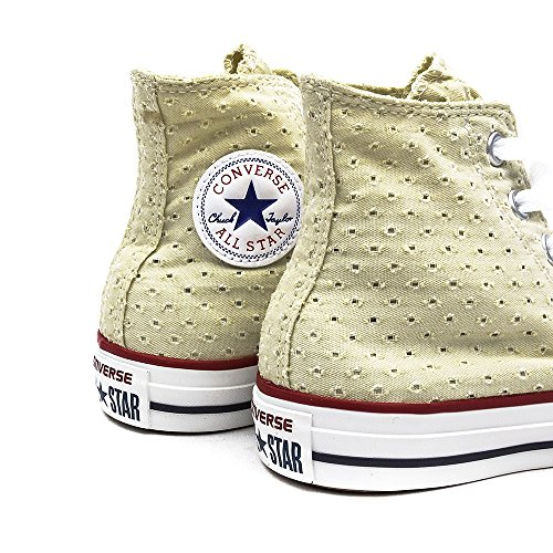 Damen Sneaker Chucks Hi Summer Canvas Natural Gelb