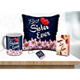 ME & YOU Birthday Gift for Sister, You are The Best Sister Quoted Satin Cushion Gift for Sister on her Birthday, Anniversary,