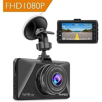 AKASO Caméra Voiture Embarquée Conduite Enregistreur, Full HD 3.0   1080P  Surveillance Jour et Nuit, Dashcam Avant Grand Angle 170° avec Capteur-G,  ... 53f3022dee5f