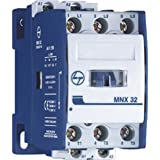 Tl L&T 12A MNx 12 1 No 240VAC 3 Pole Power Contactor, 5x10x5 (CS94108, White)