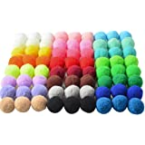 xingmo 100pcs 30 mm Craft Pompons, Pom Pom Décoratifs pour DIY loisirs Créatifs et Artisanat Fabrication