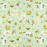 Fabulous Fabrics Halbpanama Baumwollstoff Ostermotiv -