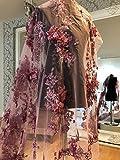 Dusty Pink DP47Lace 3D Blumen Brautschmuck/Hochzeit Kleid
