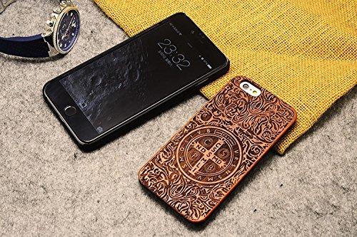 Handy-Schutzhülle für iPhone, Holz, totenkopf, iPhone SE/5S/5 Totem