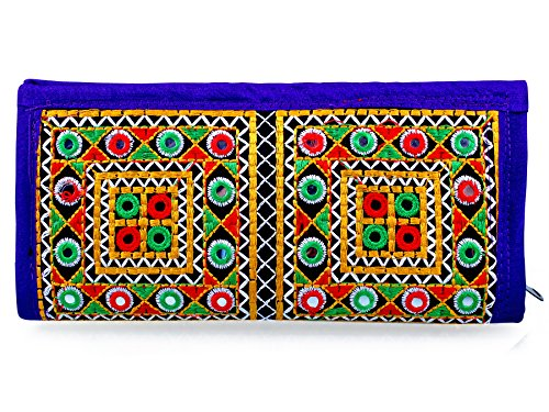 Para Ladies Traditional Hand Clutch Women Wallet, Purple  available at amazon for Rs.329