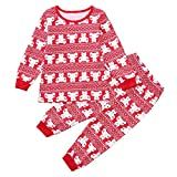 POIUDE Clearance Boy Clothes Baby Long Sleeve Cartoon Bear Print Shirt T-Shirt Tops+Pants Set(Red, 3-4Years)