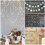 4 M Silver and Gold Twinkle Star Hanging Decoration String Paper Garland for Wedding Birthday Party Baby Shower Table Decoration - 4 Pcs
