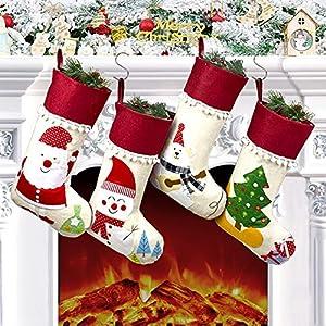 Calcetín Navidad 4 Piezas, Medias