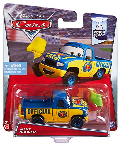 Preisvergleich Produktbild Disney Pixar Cars Dexter Hoover with Yellow Flag (Piston Cup Series, # 10 of 18)
