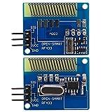 Mini 433MHz drahtloser Übermittler Sender Empfänger Modul Link Kit mit Federantennen für Fernbedienung System