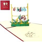 Apanphy® Festa della Mamma 3D Amore Carta Mother's Card, Creativa Biglietto d'auguri Anniversario Carta Pop Up Carta Regalo C