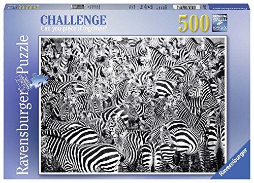 Ravensburger Italy 14807 Herausforderung der Zebras Puzzle 500Teile - Zebra-teile