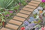 Passerella in larice B25 x L250 cm per il sentiero nel giardino