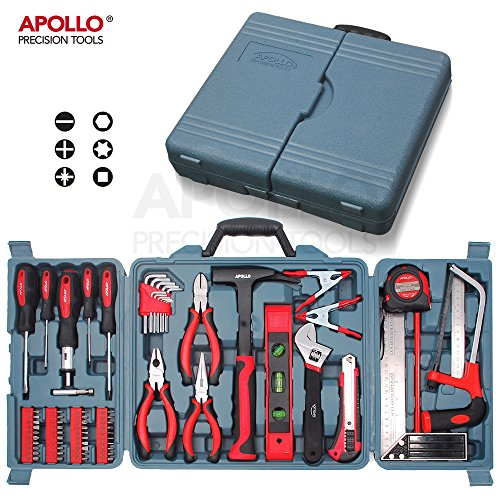 Apollo 71 Pièces Kit d'Outils pour la maison incluant des outils manuels - dans Boîte de Rangement