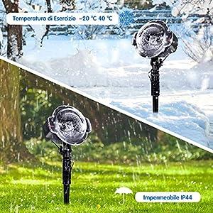 Proiettore Luci Natalizie Effetto Neve.Proiettore Luci Natale Proiettore Di Luci Led Natale Effetto Neve Multi Modi Impermeabile Ip44 Proiettore Natale Da Esterno Proiettore Bassa