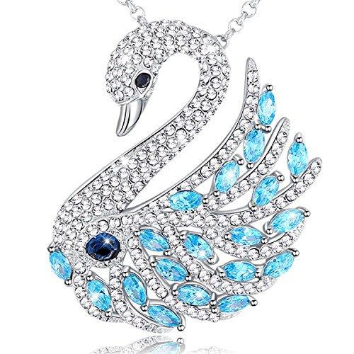 Mega creative jewelry collana cigno da donna con cristallo swarovski 3 stile spilla pendente lungo gioielli